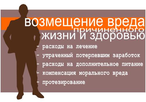 Возмещение работодателем вреда причиненного здоровью и жизни работника